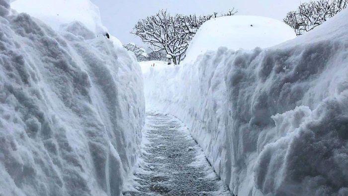 160 cms de nieve en 2 días