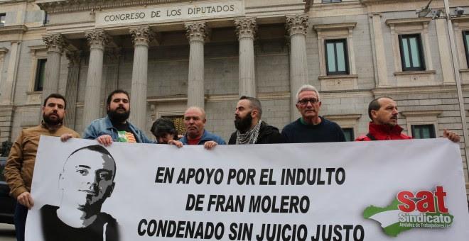 Diego Cañamero y Francisco Molero ante el Congreso. / EUROPA PRESS