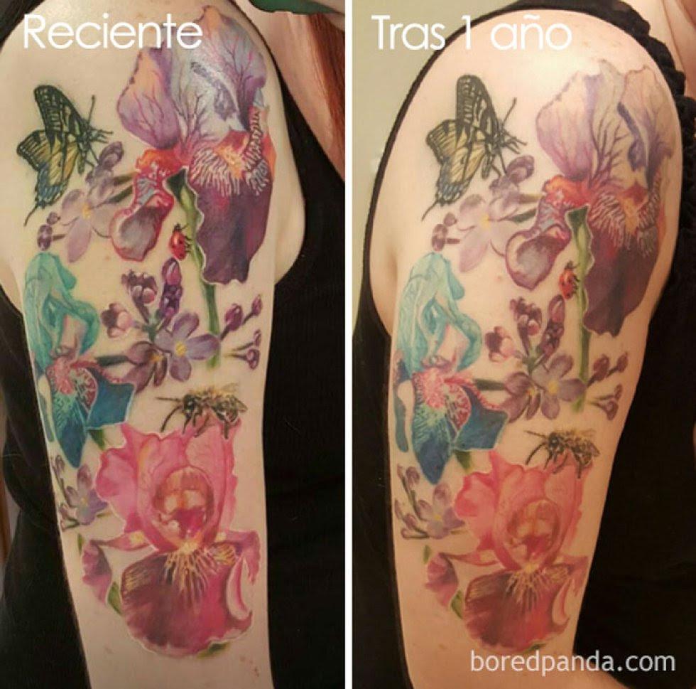 Estas Fotos Nos Muestran Cómo Se Ven Los Tatuajes Con El Paso Del