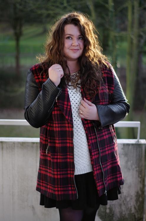 Große Größen Plus Size Fashion Blogg missguided plaid jacket