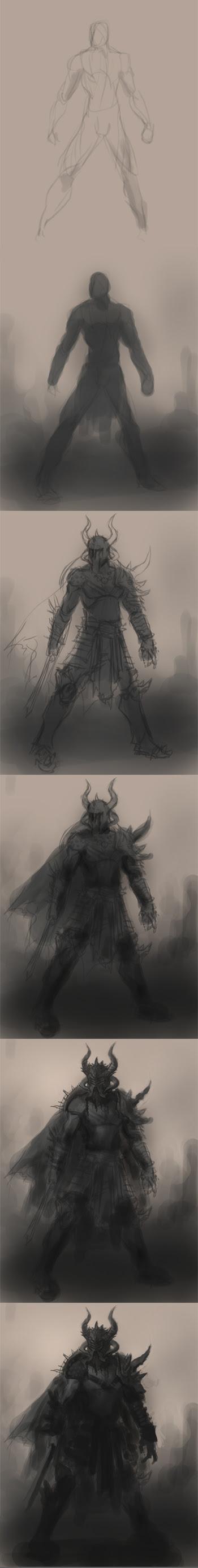 drawing barbarian warrior tutorial