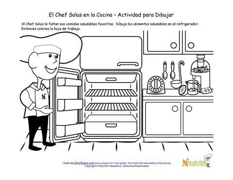 Cocinar Con Los Niños Página De Actividad Para Niños Para Dibujar