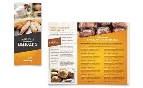 Artisan Bakery Take out Brochure Template Design
