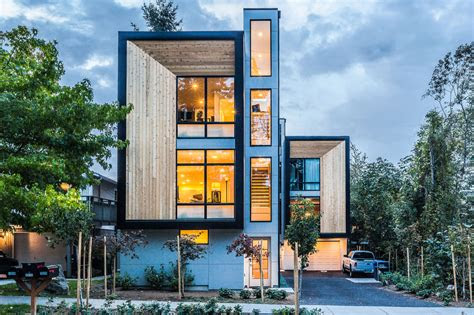 modern prefab modular townhouses designed  urban living