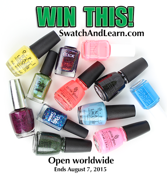 Swatch And Learn 5th Blogiversary Giveaway