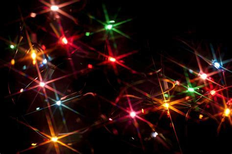 Colourful starburst Christmas lights 8227   Stockarch Free