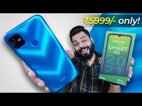 Infinix Smart HD 2021 Unboxing & First Impressions ⚡ Best Smartphone Under 6000?
