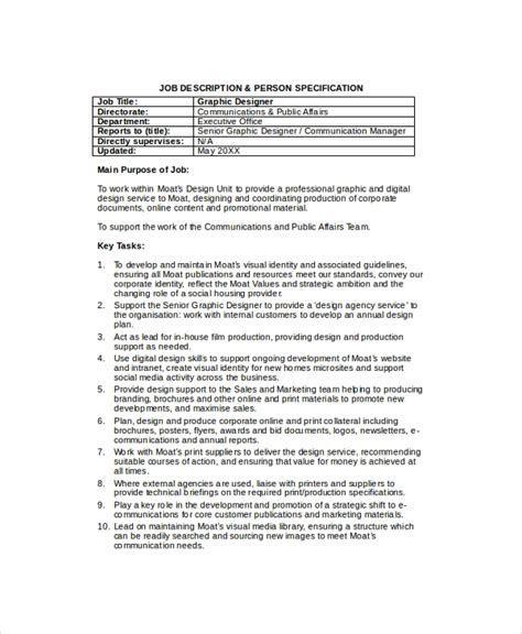 Sample Job Description   28  Documents in PDF, Word
