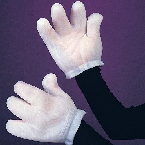 Adult Cartoon Hand White Gloves
