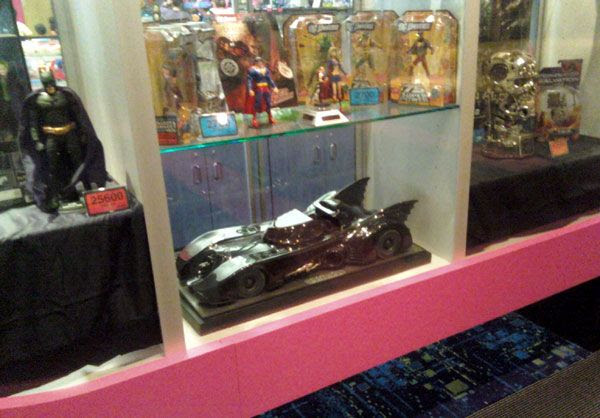 A 2-foot-long Batmobile and other cool items on display at my local mall.