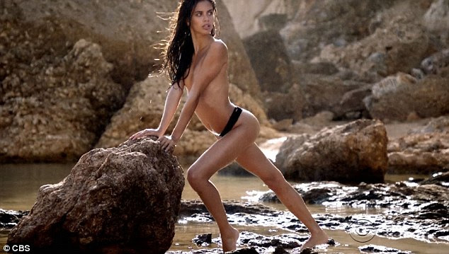 Striking a pose: Angel SaraSampaio posed topless in black bikini bottoms