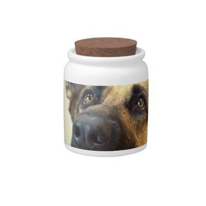 German Shepherd Cookie Jar Candy Jars
