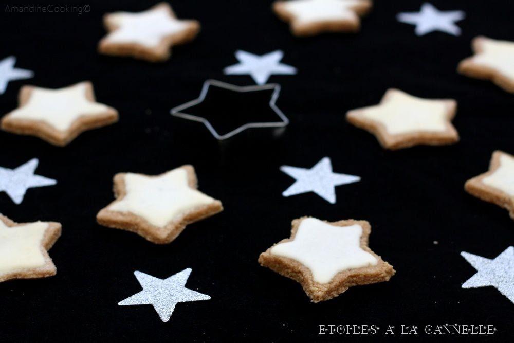 étoiles à La Cannelle Zimtsterne Amandine Cooking