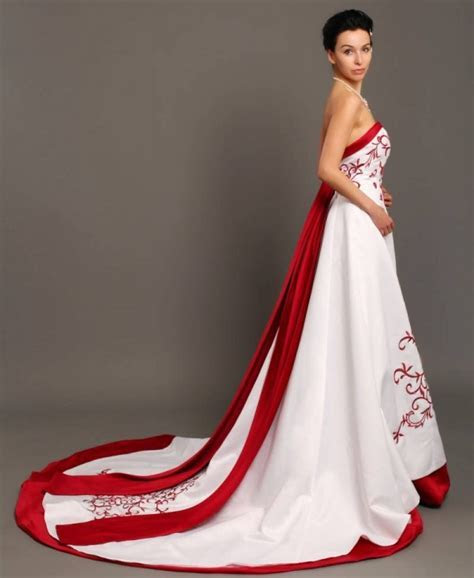 Red n white wedding dresses: Pictures ideas, Guide to