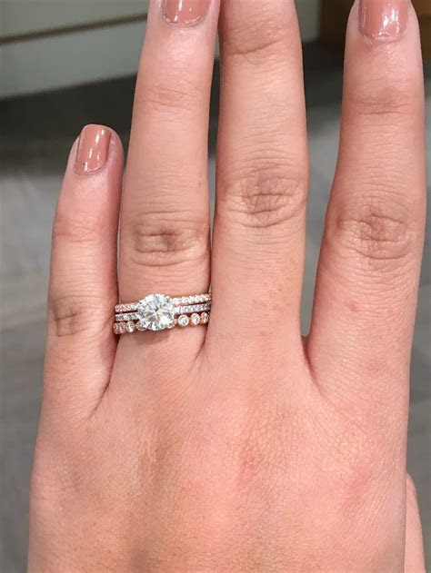 What kind of wedding bands go with a micro pave e ring