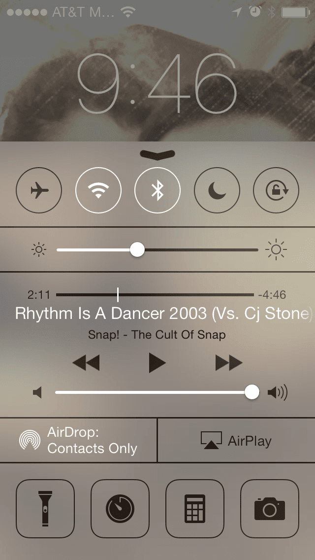 Airplay option next to airdrop