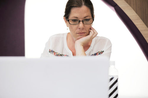 Businesswoman using uatomation tools