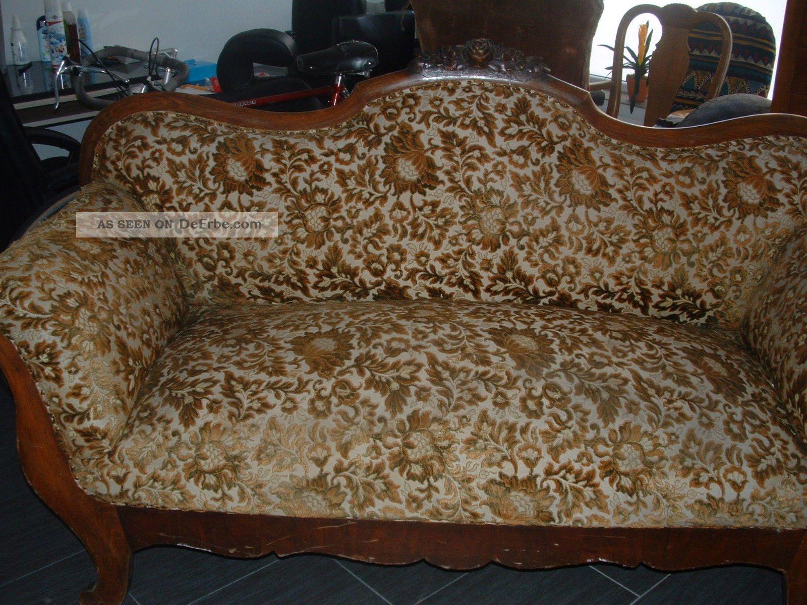 Uralte Couch Sofa Um 1900 Massiv Holz
