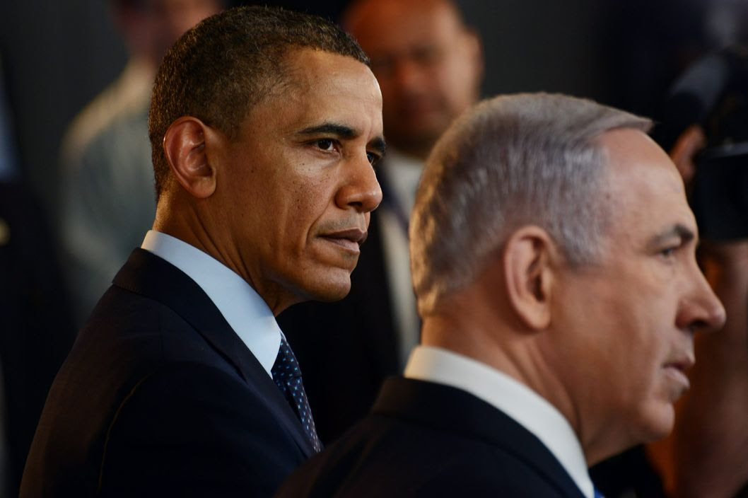 JERUSALEM, ISRAEL - MARCH 21:  U.S. President Barack Obama and Israeli Prime Minister Benjamin Netanyahu view an Israeli technology exhibition at the Israel Museum on March 21, 2013 in Jerusalem, Israel.  This is President Obama's first visit as president to the region, and his itinerary includes meetings with the Palestinian and Israeli leaders as well as a visit to the Church of the Nativity in Bethlehem.  (Photo by Debbie Hill-Pool/Getty Images)