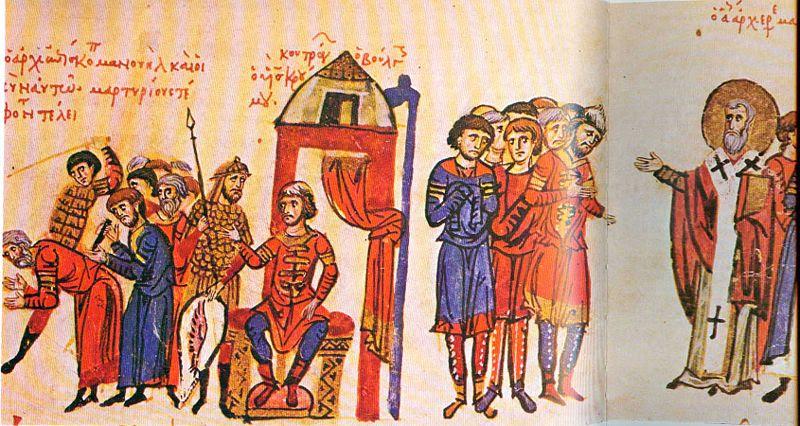 Omurtag I de Bulgarie fait massacrer les Chretiens, vers 820