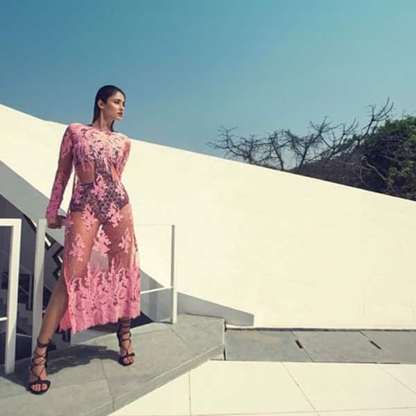 Ileana D'cruz poses in a swimwear during photoshoot