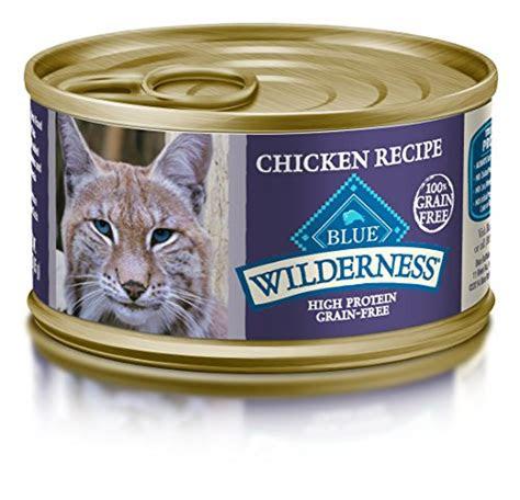 blue wilderness high protein grain  wet cat food