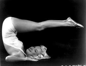 Marilyn Monroe Yoga Pose