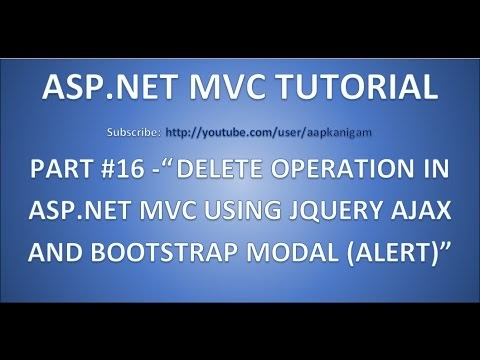 TechnoTips : Part 16 - Delete operation in Asp net MVC using JQuery