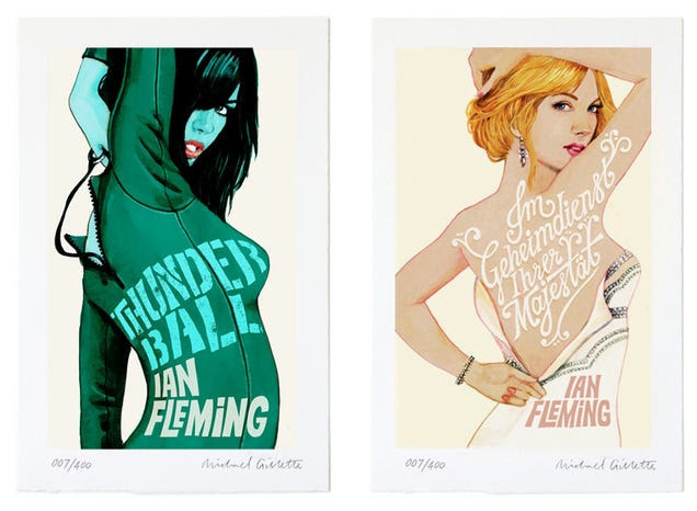 Bond Girls transformed into gorgeous Bond novels titles