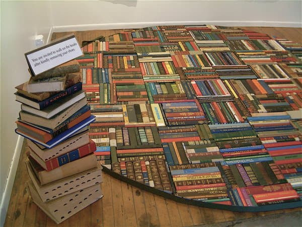 Bibliophilism in art  with Paper & Books Book Art
