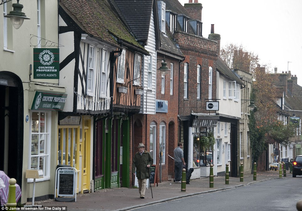 Under threat: Locals in Buntingford say housing will put a strain on nurseries and GPs, but fear being dismissed as Nimbys for complaining