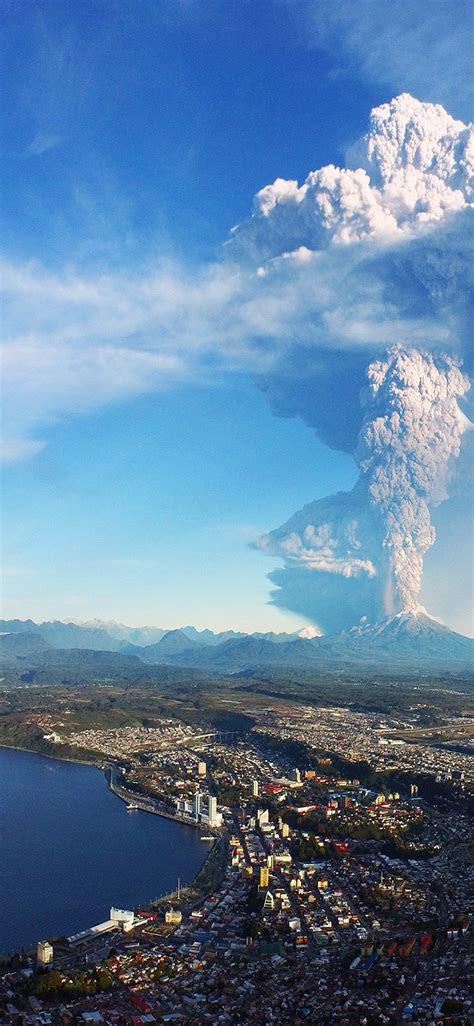 volcano hd wallpaper