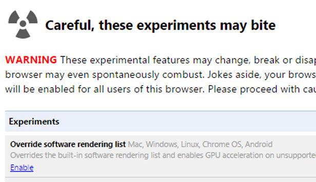 Google Chrome Experiments