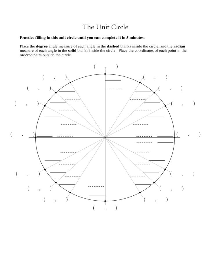 unit circle practice worksheet - laveyla.com