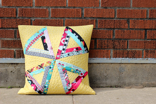 Nordika Triangle Log Cabin Pillow by Jeni Baker
