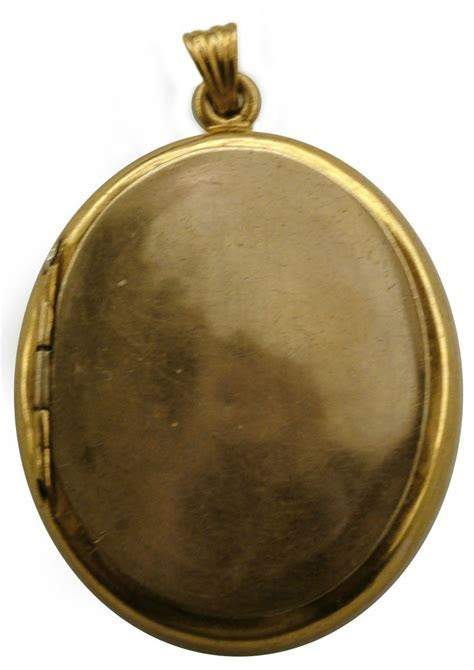 Vintage 1800s 16kt Gold Oval Locket   Very Rare