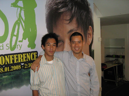 Director Woo Ming Jin and Zamir the main actor