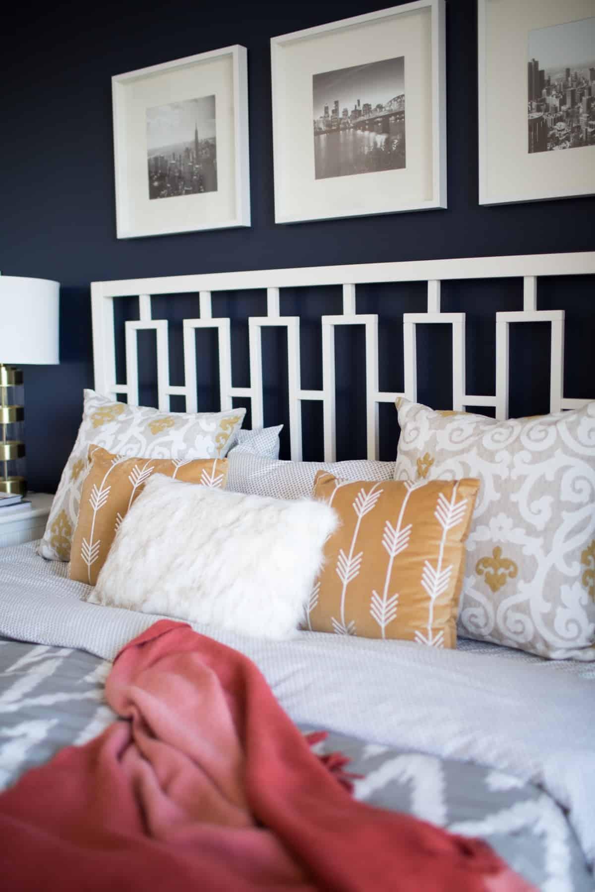 The best navy bedroom wall idea