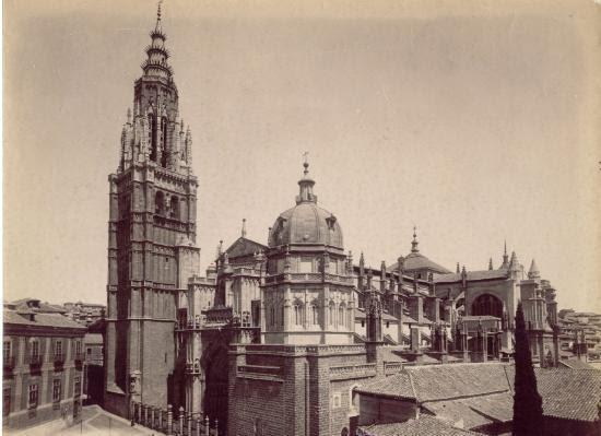 Catedral de Toledo a inicios del siglo XX. Foto Rafael Garzón