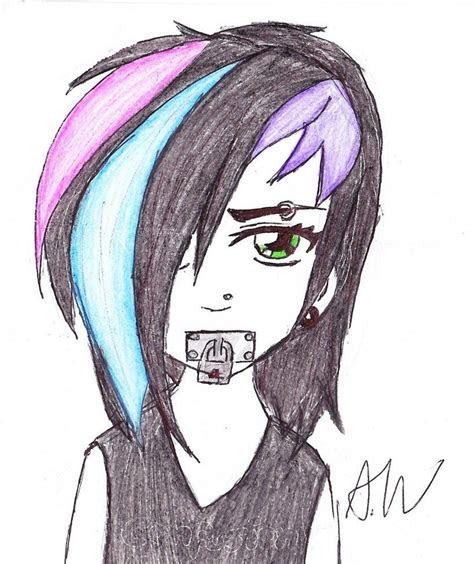 easy anime drawings emo girl face image gallery