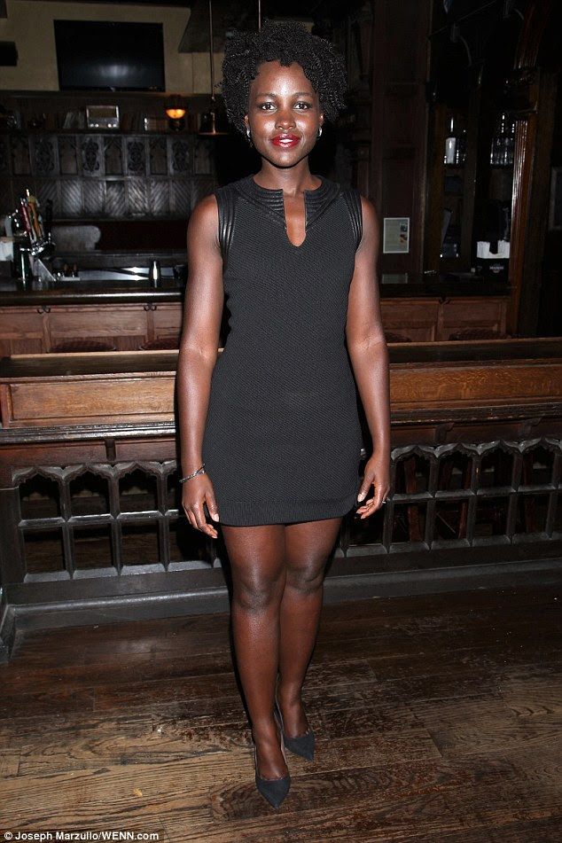 Simply chic: Lupita Nyong'o was on hand to celebrate the opening night of new play, Informed Consent, in New York on Tuesday night