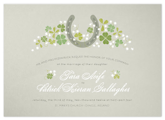 wedding invitations - Lucky Horseshoe
