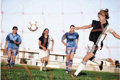 Powerful Female Athletes - Women Playing Soccer
