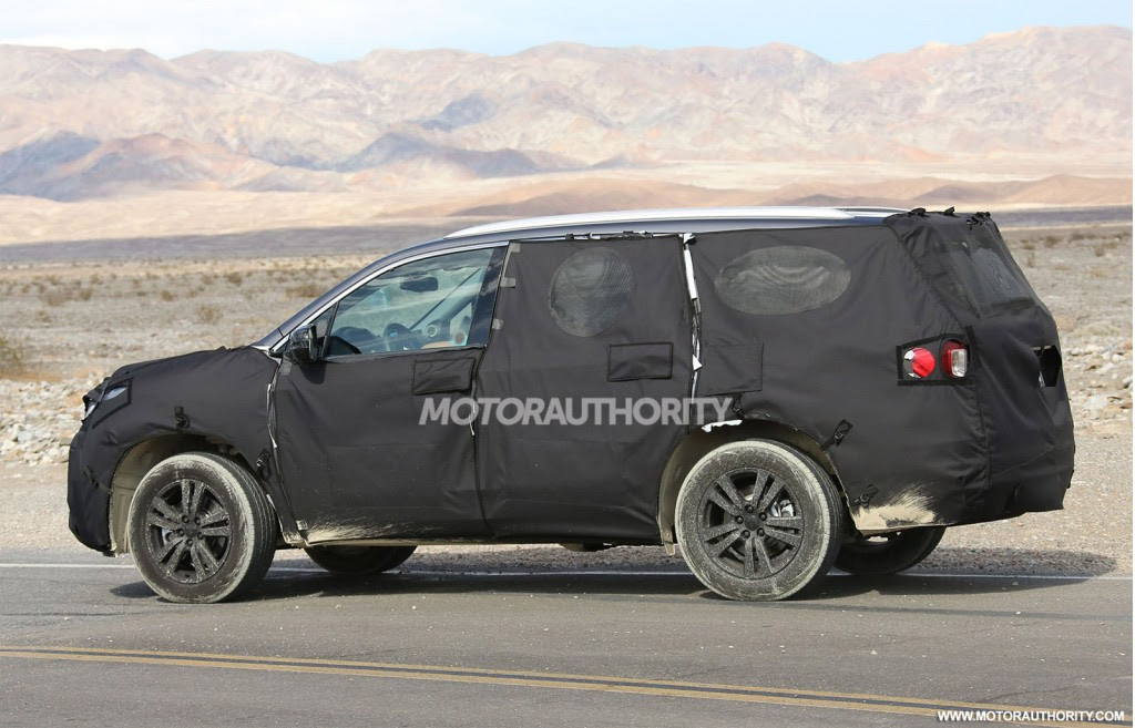2016 Honda Pilot Spy Shots