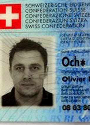 Disappeared: Mr Och's Swiss identity card was also found at the scene