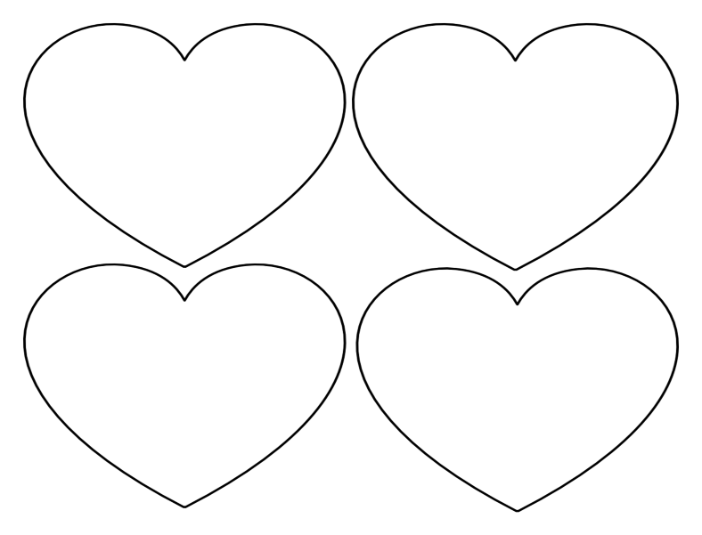 Free Printable Heart Templates – Large, Medium & Small Stencils to ...