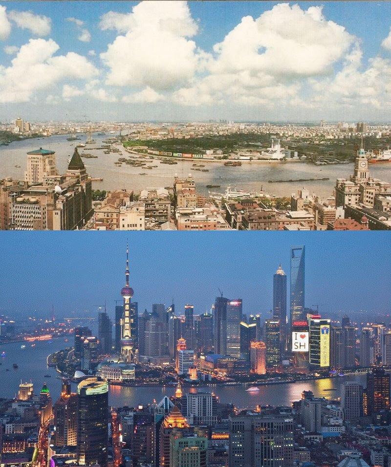 Shangai, 1990 and 2010