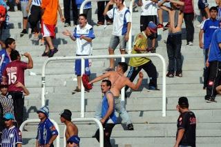 Racing le ganaba a Godoy Cruz en Mendoza, pero el partido se suspendió por incidentes