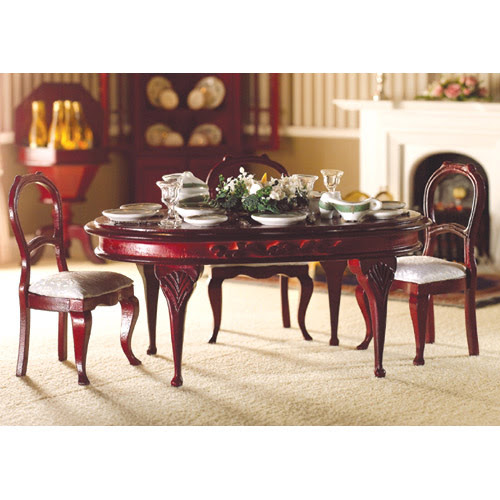 DH-2079 – Queen Anne Dining Room Table – (1:12) | RB Models