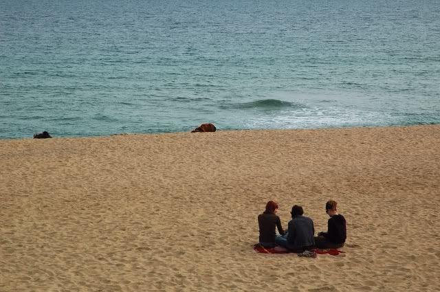 Three Girls at Barcelona Beach